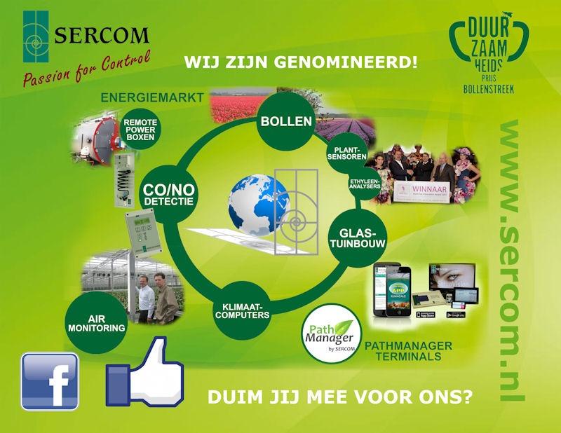 SERCOM genomineerd voor de Duurzaamheidsprijs